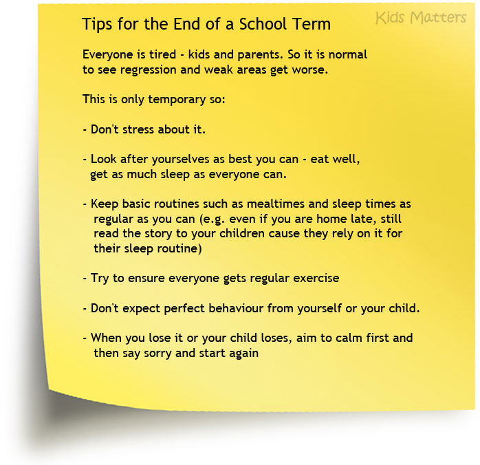 Tips-End-of-School-Term